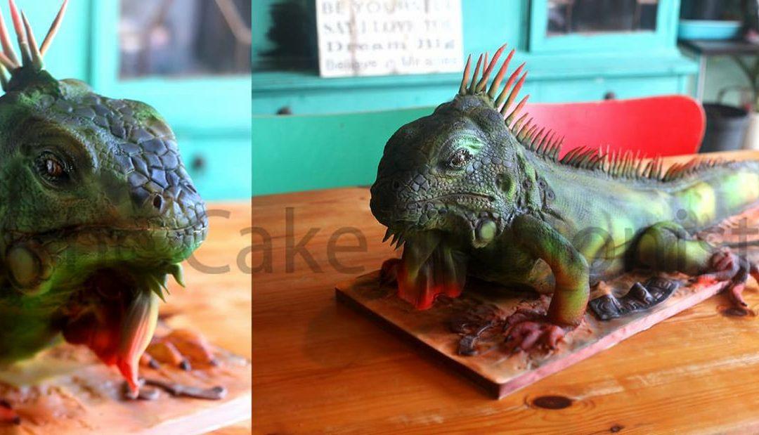 Life size Iguana Cake