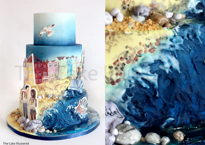 Beach Cake - Handpainted