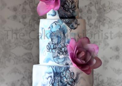 Japanese Koi Wedding Cake
