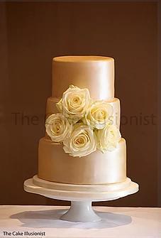 Mute Gold Wedding Cake