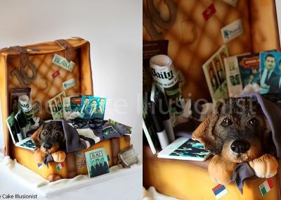 Open Suitcase Cake - Memorabilia Cake