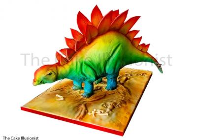 Rainbowsaurus, dinosaur, stegosaurus