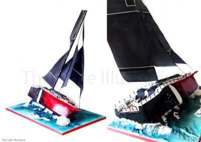 Transatlantic Sailing Boat - Edible Sailing Boat Cake