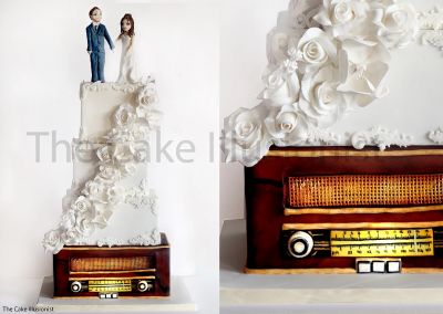 Vintage Radio Wedding Cake
