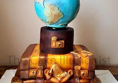 Vintage Suitcase cake, travel cake