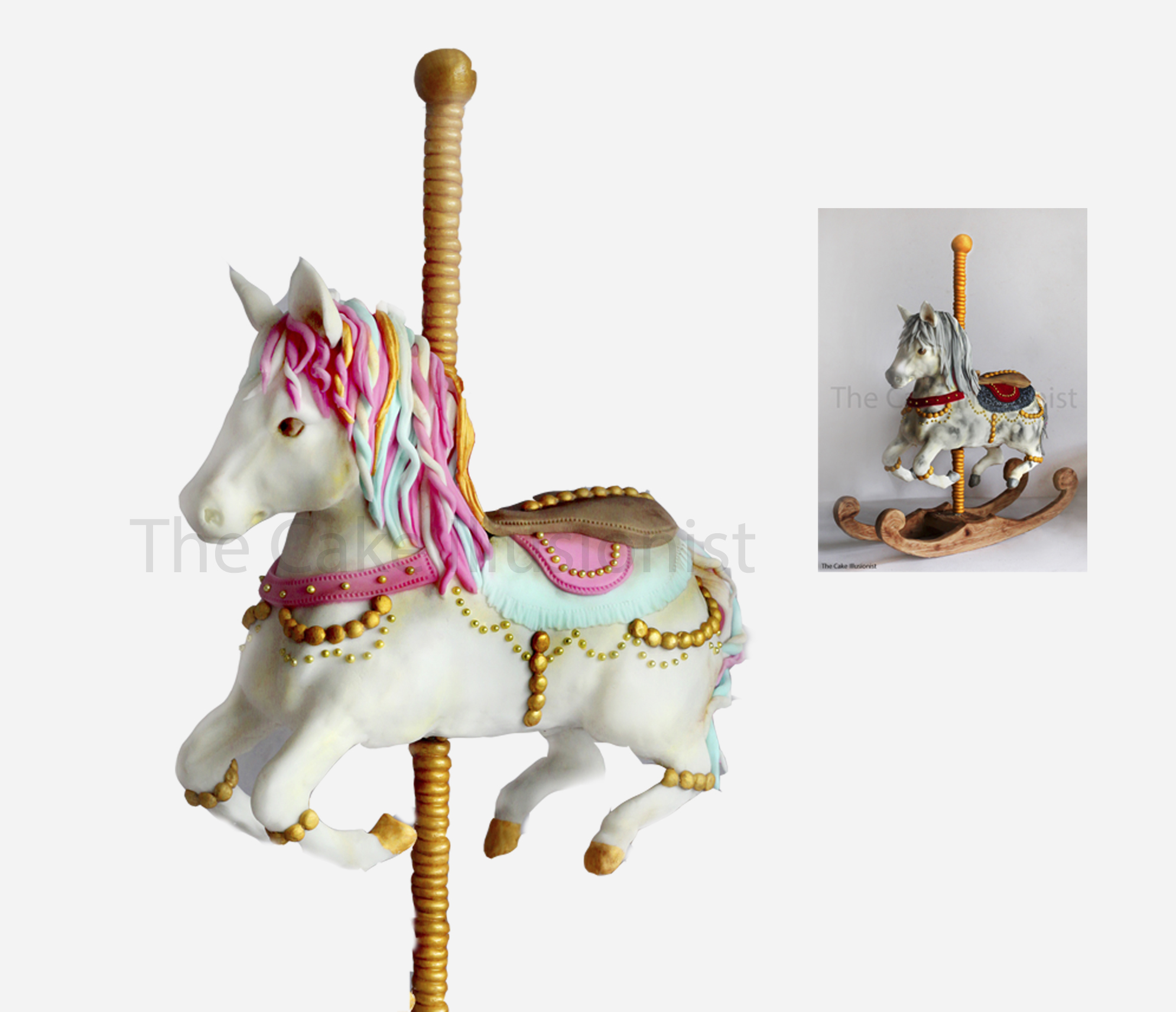Sold Out Two Day Structured Carousel Horse Cake Class Banstead The Cake Illusionist