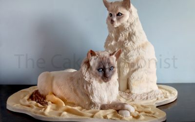 A Cat Lovers Wedding Cake