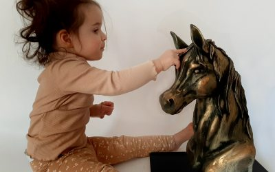 The gravity-defying Sculpted Bronze Horse Cake