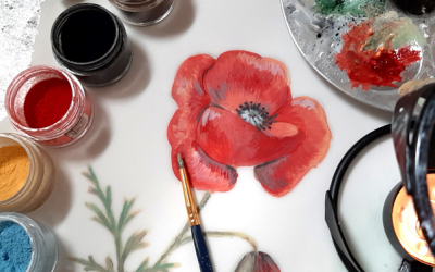 [How To] Paint A Poppy Using Cocoabutter – A Tutorial